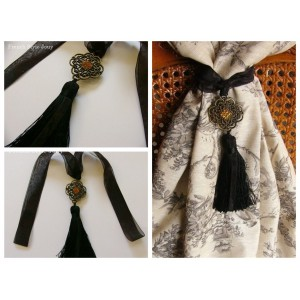Embrasse rideau Antique (noir)