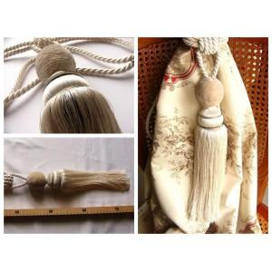 Embrasse rideau Boule (ivoire)