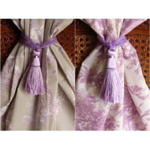 Embrasse rideau Organza mousse (violet perle)