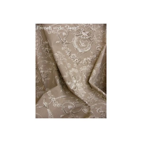 toile de jouy tissu romantique tissu au m tre. Black Bedroom Furniture Sets. Home Design Ideas