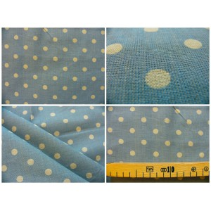 tissu coupon / par 50cm : MOON bleu-chambray