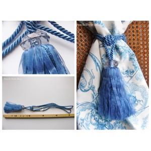 Embrasse rideau Diamonde (21: bleu)