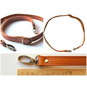Anse de sac bandoulière réglable en cuir synthétique 95-110cm ( camel )