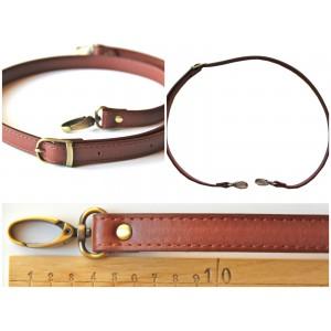 Anse de sac bandoulière réglable en cuir synthétique 95-110cm ( marron )