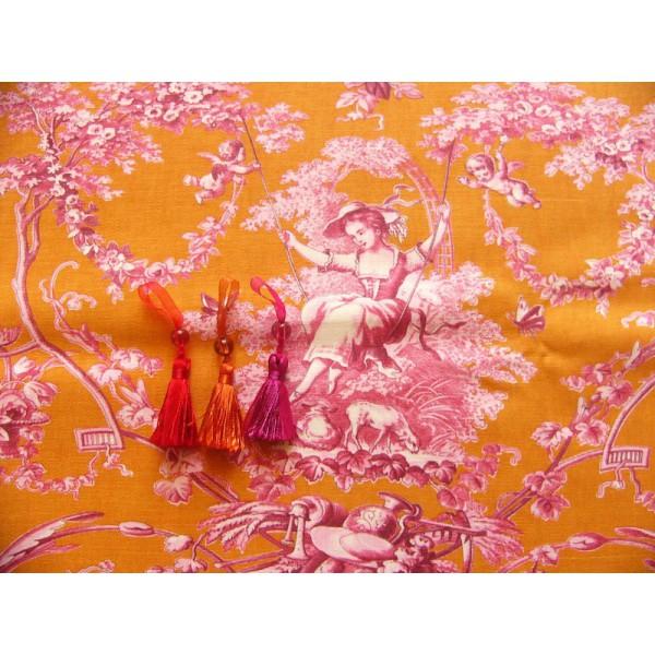 tissu toile de jouy tissu romantique tissu au m tre. Black Bedroom Furniture Sets. Home Design Ideas