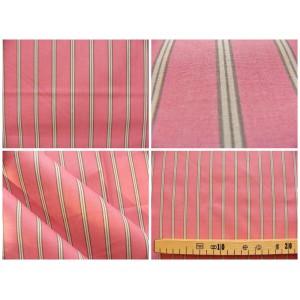 tissu coupon / par 50cm : rayure POLO rouge