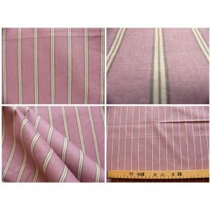 tissu coupon / par 50cm : rayure POLO violet