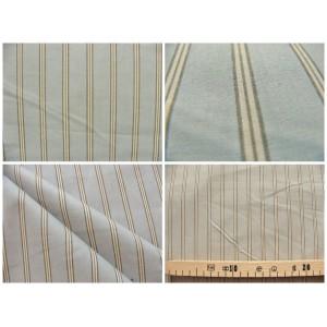 tissu coupon / par 50cm : rayure POLO bleu