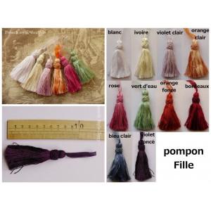 Pompon Fille (10 couleurs au choix)
