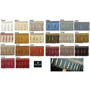 SC1 : HOULES EFFILÉ QUILLES frange 125MM MARLY (20 couleurs au choix)