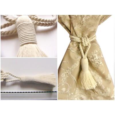 Embrasse rideau Bicolore (coton naturel)