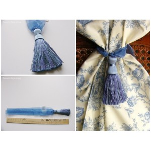 Embrasse rideau Organza mousse (bleu)