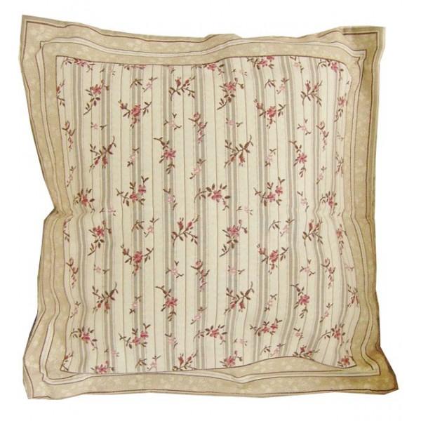 housse de coussin reversible 45x45cm rose fleur jacqaurd. Black Bedroom Furniture Sets. Home Design Ideas