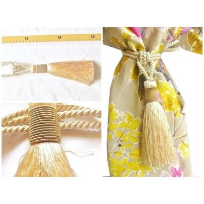 Embrasse rideau Grand Bicolore (col.51 ivoire, beige, grand modèle)