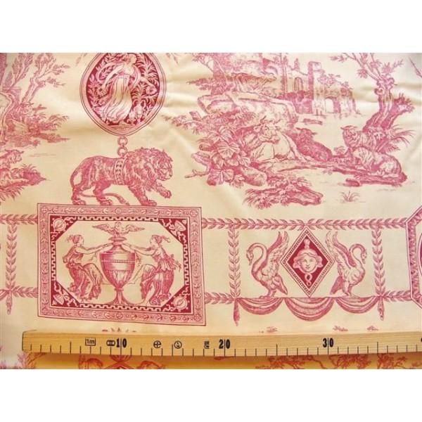 toile de jouy tissu romantique coupon de tissu. Black Bedroom Furniture Sets. Home Design Ideas